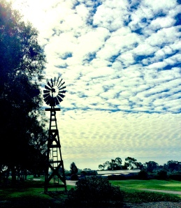 windmill on golfcourse