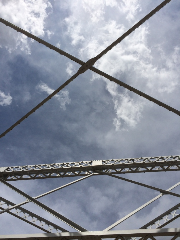 clouds on top of bridge