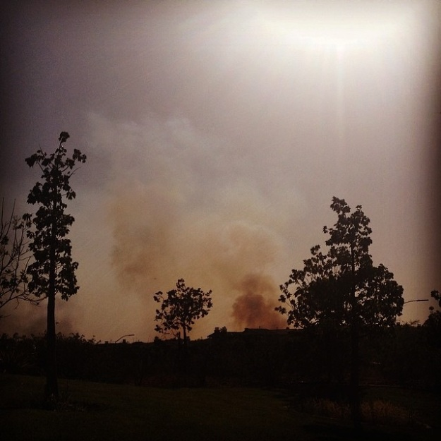 Bernardo fire, Tuesday (photo credit: Abby)