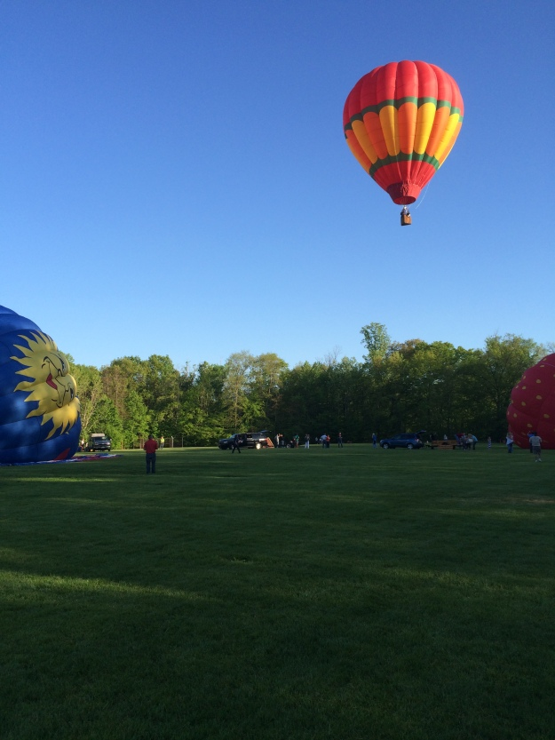 hot air balloon distance