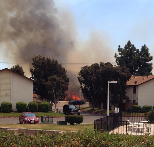 Oceanside fire, today. Photo credit: Janis