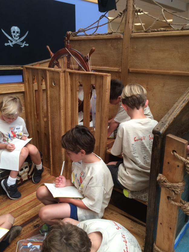 pirate ship writing
