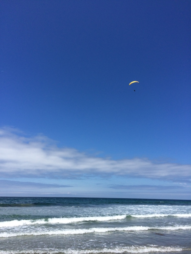 ocean with paraglider