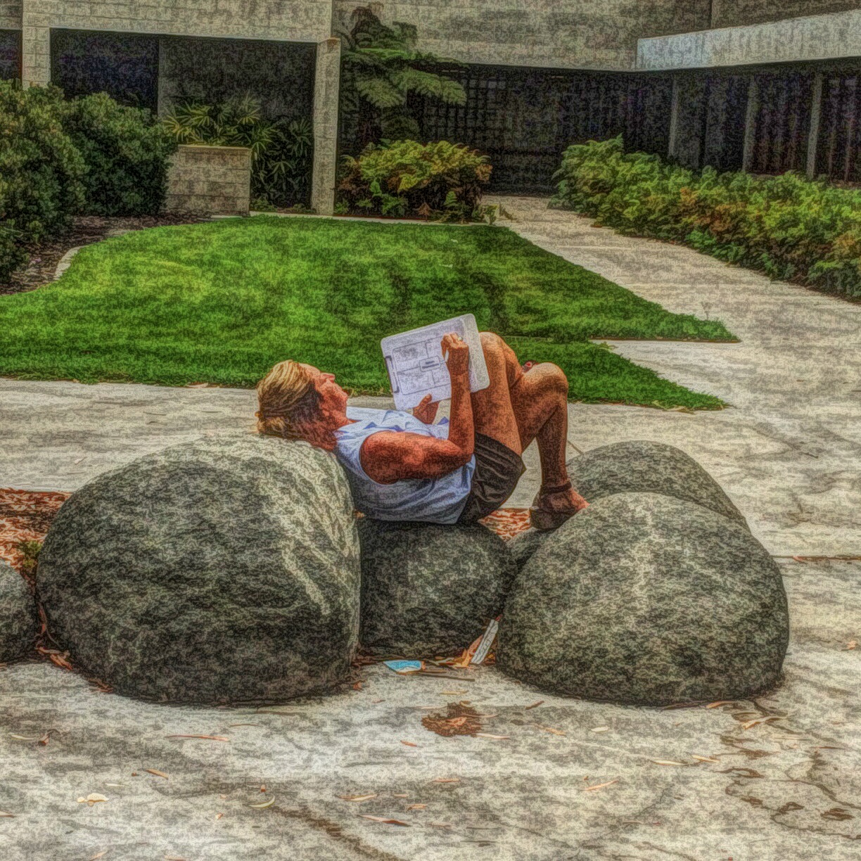 writing on the rocks