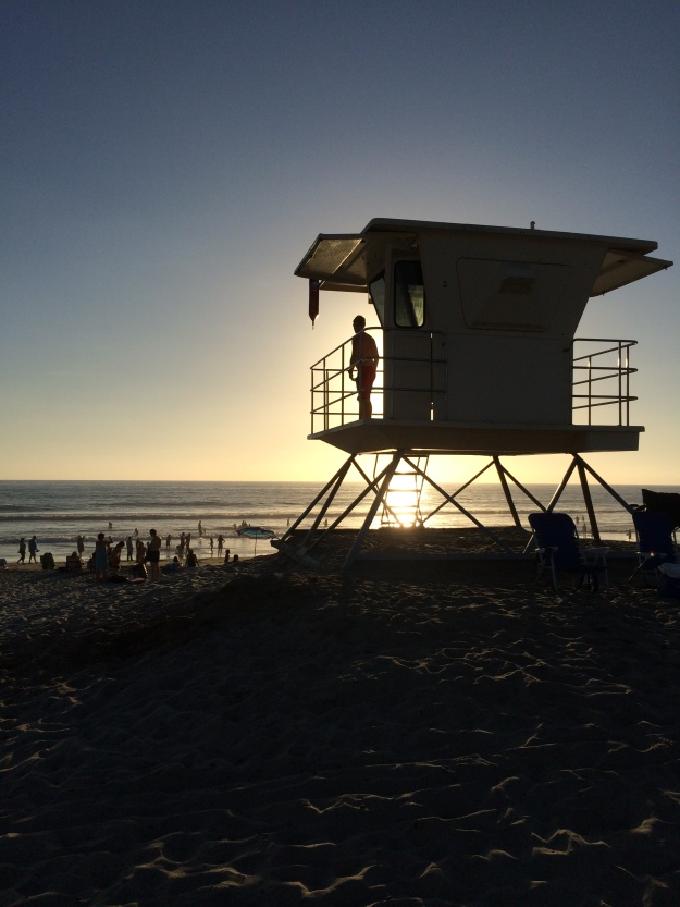 lifeguard silhouette