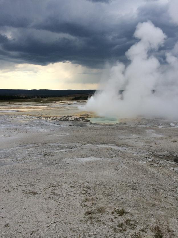 sky and geyser