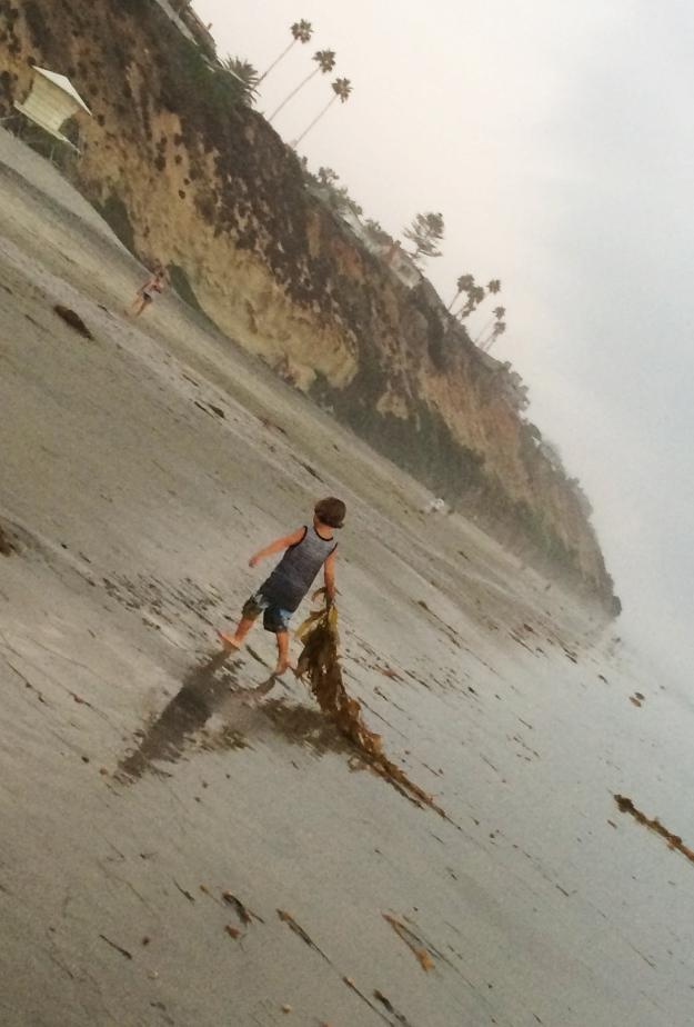 kid with kelp