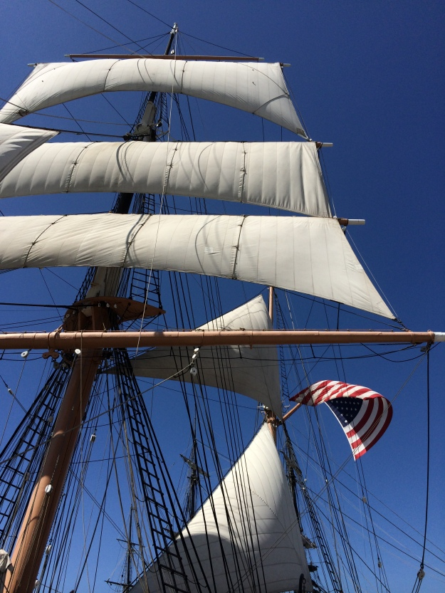 sails and flag
