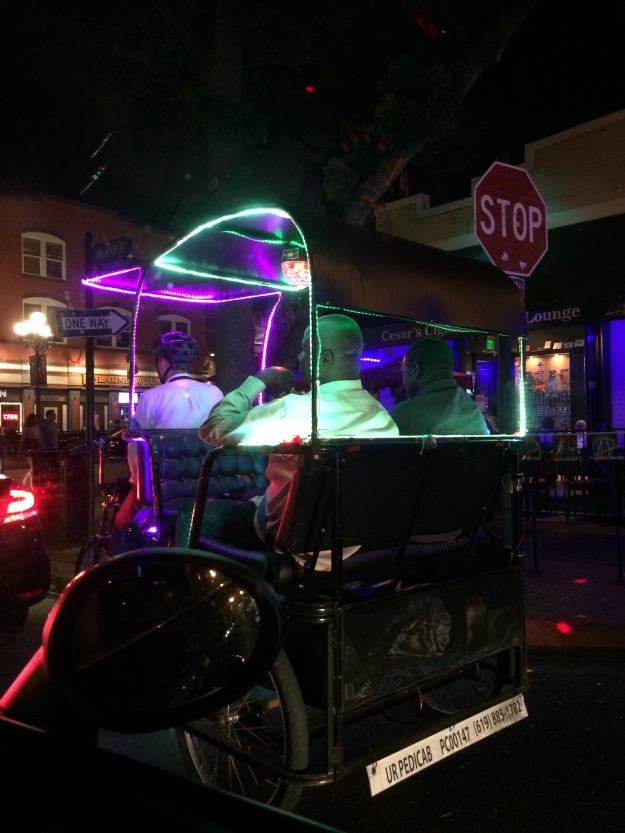nighttime pedicab