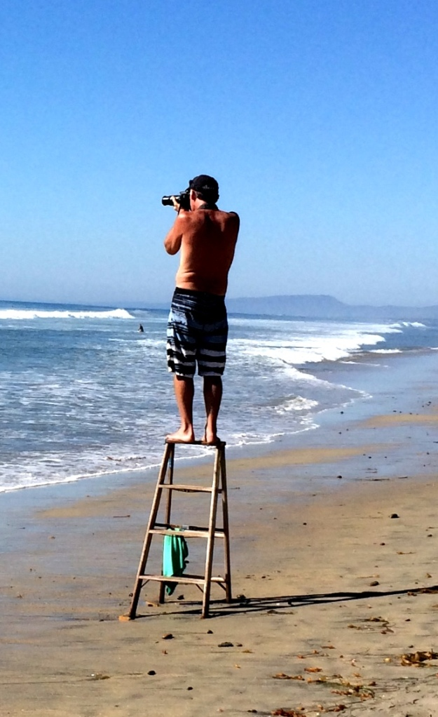 photography on a ladder