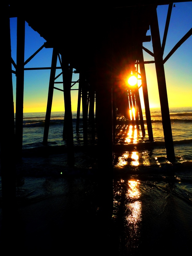 sun through the pier