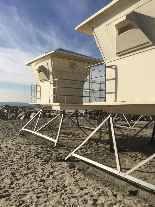wintering lifeguard towers