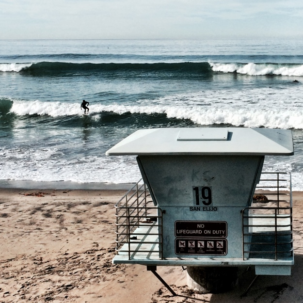 surfer and tower