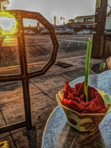 Gelato near sunset