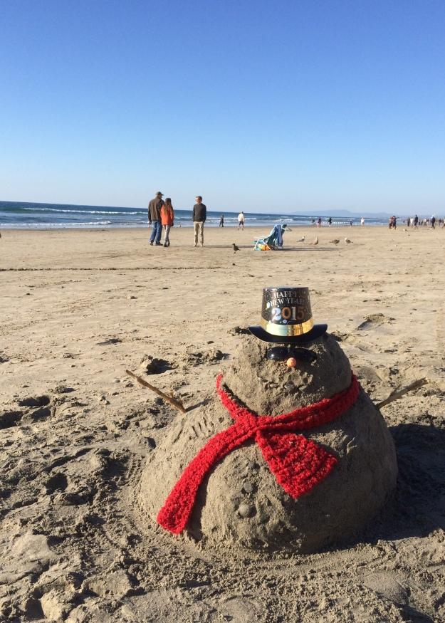 sand snowman