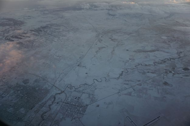 snowy map