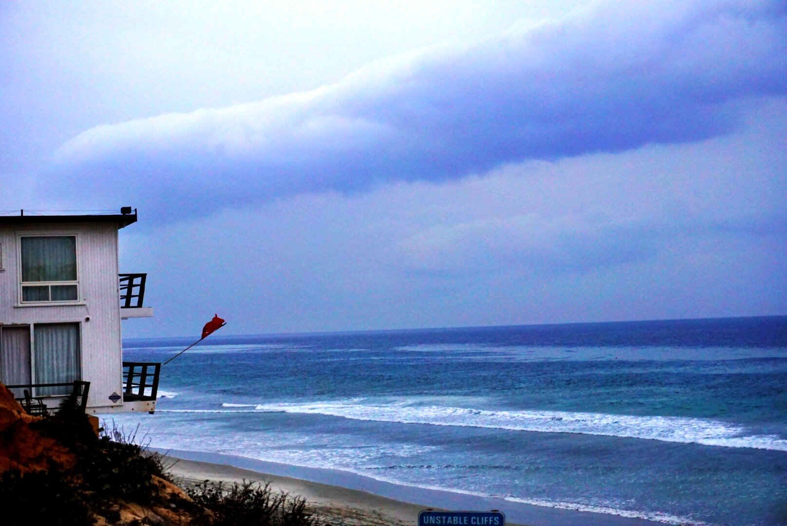 windy sea